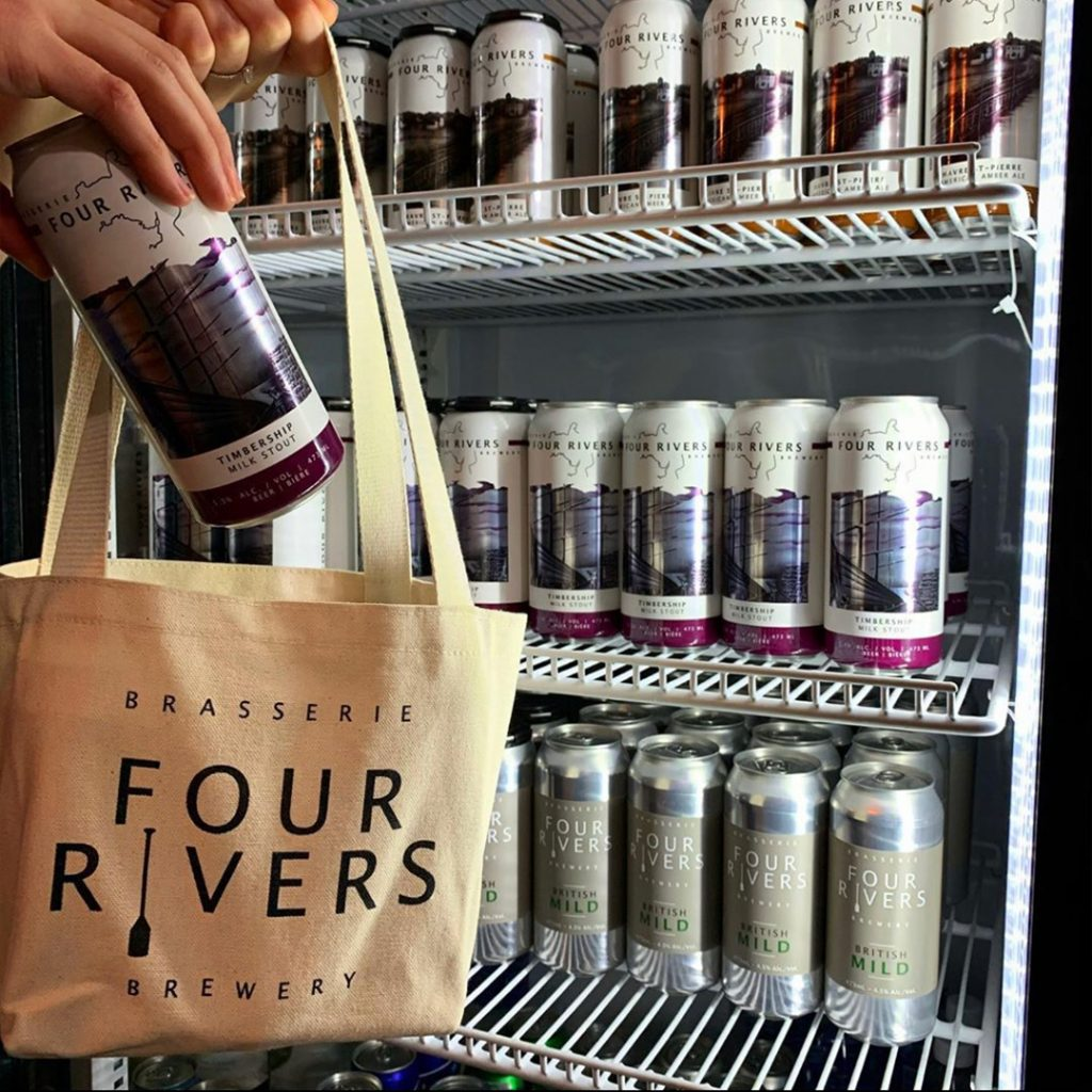 Custom beer bags - 4 Rivers